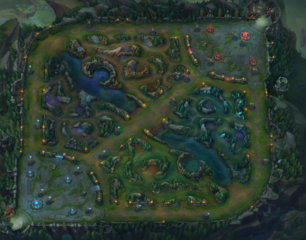 Summoners Rift Map